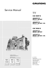 Manuale di servizio Grundig CUC 2058 D