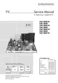Manuale di servizio Supplemento Grundig CUC 2050