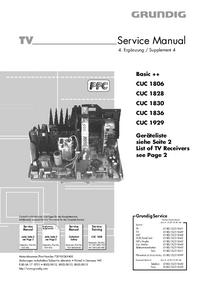 Supplément manuel de réparation Grundig CUC 1806