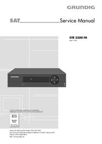 Руководство по техническому обслуживанию Grundig STR 2300 FR