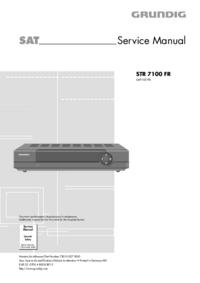 Servicehandboek Grundig STR 7100 FR