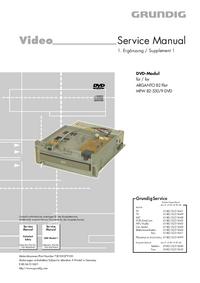 Manual de servicio Grundig ARGANTO 82 Flat