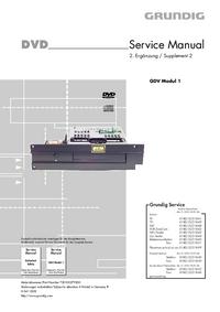 Manuale di servizio Grundig GDV Modul 1
