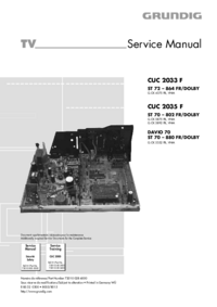 Manual de serviço Grundig CUC 2035 F