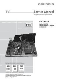 Manual de serviço Grundig ELEGANCE 70 ST 70 – 900 FR / DOLBY