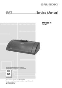 Manual de servicio Grundig STR 1300 FR