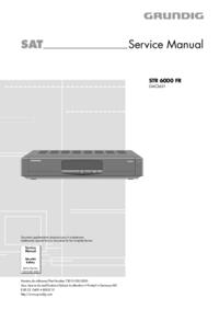 Service Manual Grundig STR 6000 FR