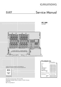 Manuale di servizio Grundig STC 1880