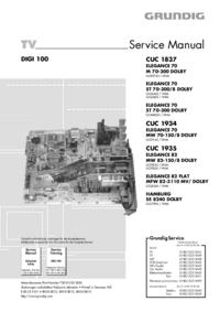 Service Manual Grundig ELEGANCE 70 MW 70-150/8 DOLBY