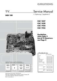 Manual de serviço Grundig ELEGANCE 70 FLAT MFW 70-3210/8 DOLBY
