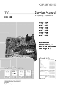 Service Manual Grundig XENTIA 72 FLAT MF 72-430 DOLBY