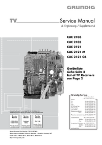 Service Manual Supplement Grundig P 37-4101 TOP