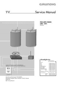 Manuale di servizio Grundig FINE ARTS VISION LSP3