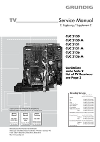 Service Manual Supplement Grundig CUC 2131 M