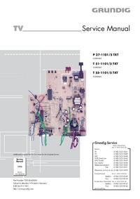 Serviceanleitung Grundig T 55-1101/5 TXT