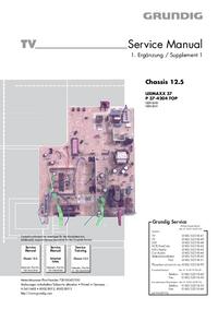 Руководство по техническому обслуживанию дополнения Grundig LEEMAXX 37 P 37-4204 TOP