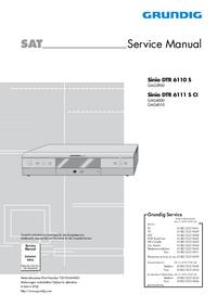 Serviceanleitung Grundig Sinio DTR 6111 S CI