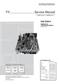 Suplemento Manual de servicio Grundig LEEMAXX 55 T 55-4104 M/COM/CL