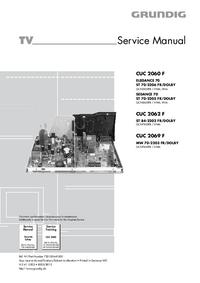 Servicehandboek Grundig CUC 2062 F