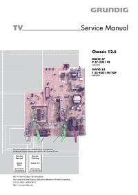 Manual de serviço Grundig DAVIO 37 P 37-2201 FR