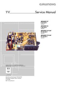 Руководство по техническому обслуживанию Grundig ARCANCE 72 FLAT TF 72-5211