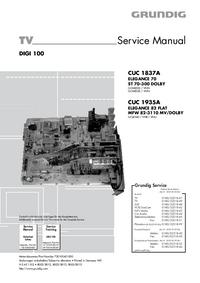 Instrukcja serwisowa Grundig CUC 1837A
