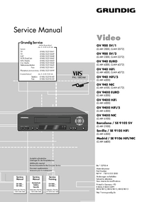 Service Manual Grundig GV 900 SV/2