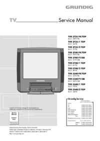 Service Manual Grundig TVR 3740 FT/GB