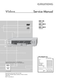 Manual de serviço Grundig GDV 130