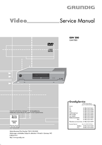 Serviceanleitung Grundig GDV 200