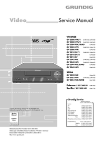 Service Manual Grundig VIVANCE GV 3000 VPS/2