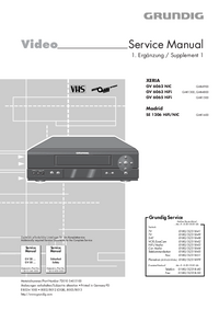 Service Manual Supplement Grundig XERIA GV 6065 HiFi
