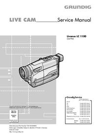 Manuale di servizio Grundig Livance LC 1100