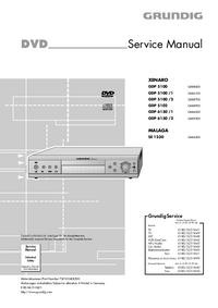 Service Manual Grundig XENARO GDP 5100 /1