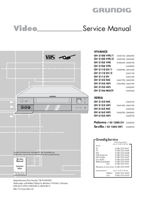 Service Manual Grundig VIVANCE GV 3110 SV/2