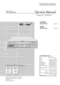 Service Manual Supplement Grundig XERIA GV 6167 HiFi