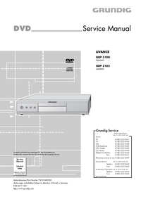 Manual de servicio Grundig LIVANCE GDP 3100