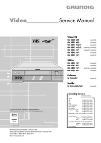 Service Manual Grundig VIVANCE GV 3247 HiFi