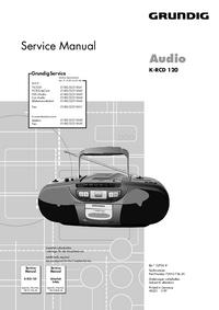 Instrukcja serwisowa Grundig K-RCD 120