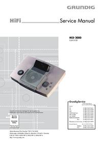 Servicehandboek Grundig RCD 2000
