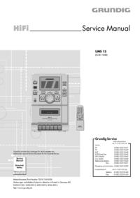 Руководство по техническому обслуживанию Grundig UMS 15