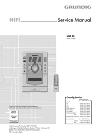 manuel de réparation Grundig UMS 25