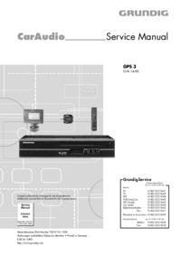 Manual de serviço Grundig GPS 3