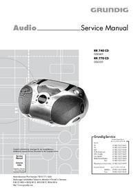 Руководство по техническому обслуживанию Grundig RR 770 CD