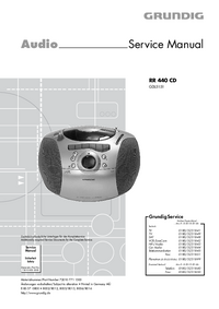 Service Manual Grundig RR 440 CD