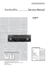 Manual de servicio Grundig EC 4890 CD