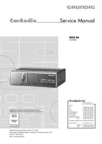 Instrukcja serwisowa Grundig MCD 46