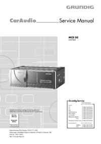 Manual de serviço Grundig MCD 50