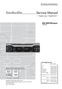 Service Manual Supplement Grundig SCD 3490 RDS green