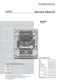 Serviceanleitung Grundig MS 4101